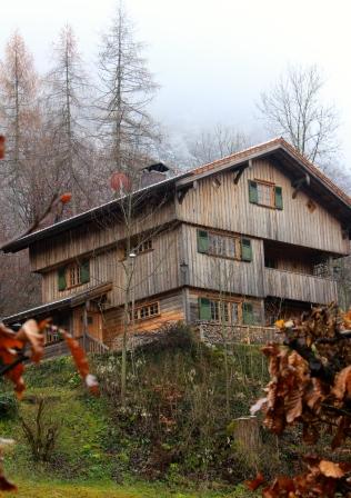 Cute houses in Hohenschwangau village