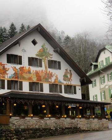 Pretty buildings in Hohenschwangau village