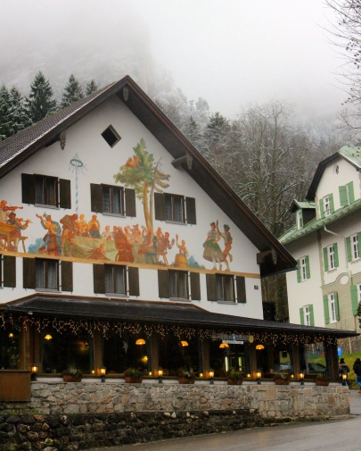 Pretty buildings in Hohenschwangau village