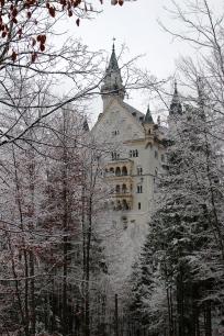 Neuschwanstein Castle walk down from Marienbrucke