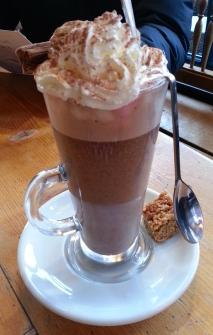 Great hot chocolate at Bar Solo