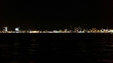 Reykjavik by night from Northern Lights boat