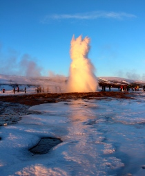 Geysir Geothermal Field - there she blows