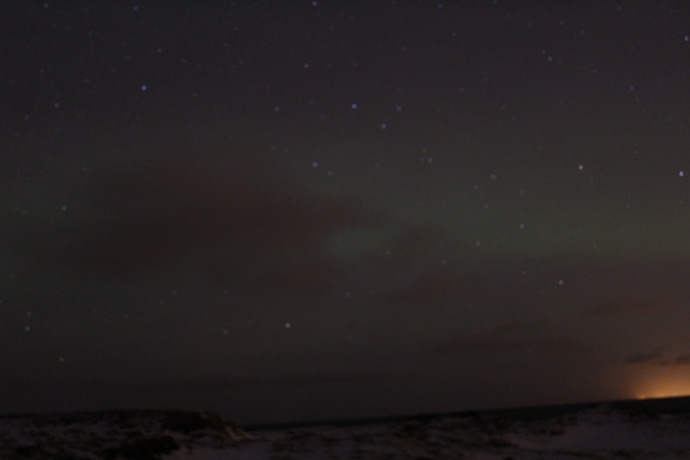 First glimpse of the Northern Lights