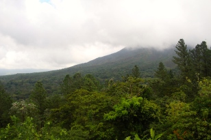 Volcano Arenal (beneath the cloud!)