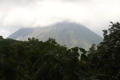 Volcano Arenal underneath the cloud