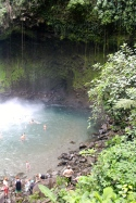 La Fortuna Waterfall - very grateful for a swim after the Cerro Chato hike