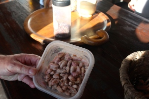 Then you ferment them - these smelt so bad - enough to put you off chocolate for life