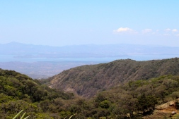View over Pacific Ocean