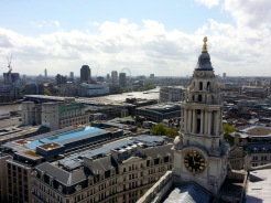 View over London from top of St. Paul's Cathedral