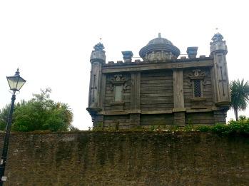 Wooden pavilion in Arundel Castle Gardens