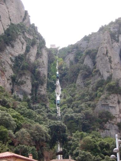 Sant Joan Funicular Railway to mountain top