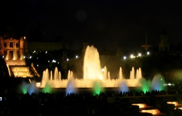 Magic Fountain of Montjuic & National Monument of Art of Catalunya