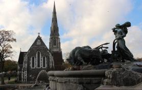 St Albans church & Gefion Fountain