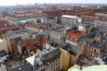 View from top of Frederik's Church