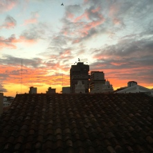 Sunset from hotel room, Hotel Colonial