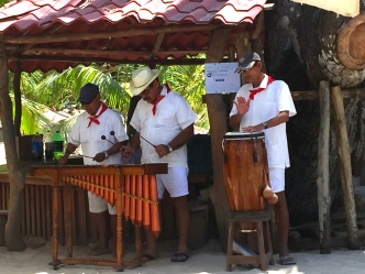 Calypso band at lunch