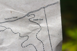 ...then I looked at the map - perhaps not follow that path!