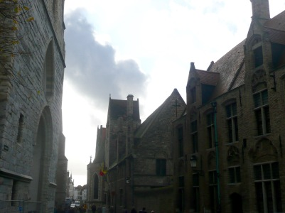 Mariastraat, Sint-Janshopitaal (Old St Johns Hospital) & Onze-Lieue-Vrouwkerk (Church of Our Lady)