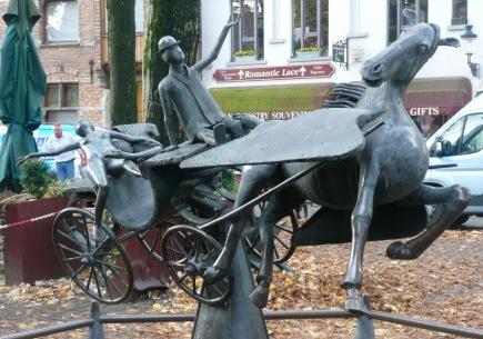 Zeus, Leda, Prometheus & Pegasus Sculpture by Jef Claerhout, Walplein
