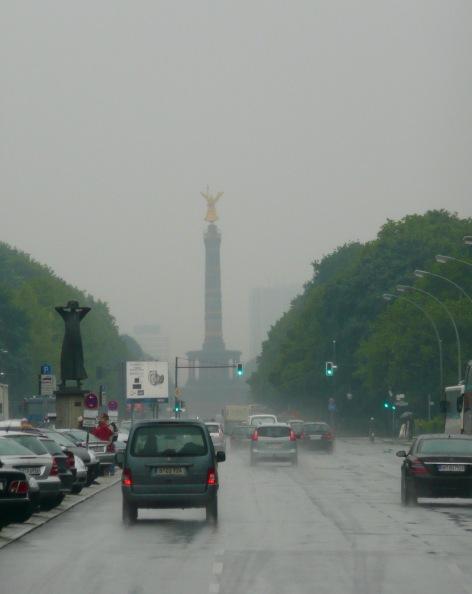 Berlin Victory Column & Der Rufer Statue
