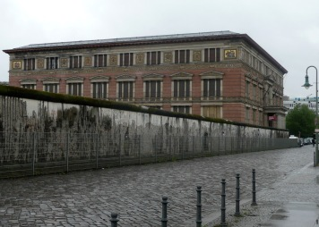 Martin Gropius-Bau & part of Berlin Wall behind which is Topography of Terror outdoor museum, former site of Gestapo and SS HQ