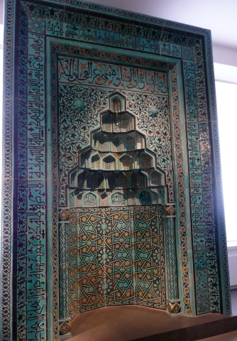 Mihrab from the Beyhekim-Mosque , Konya / Anatolia, 13th century