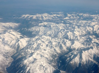 Alps from plane home from Barcelona