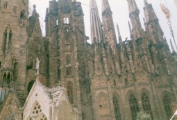 Sagrada Familia, apologies for poor quality but this was years ago and so scanned image