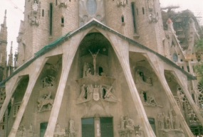 Sagrada Familia, apologies for poor quality but taken a long time ago and scanned!
