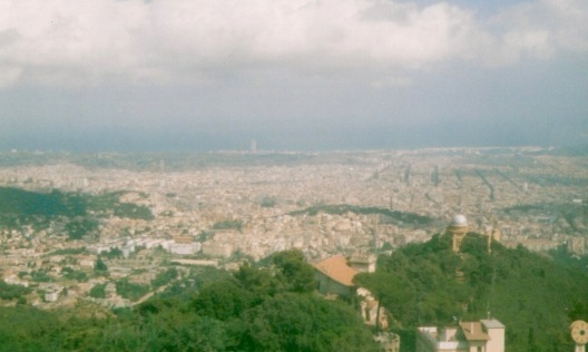 View of Barcelona from Tibidabo - please excuse poor photo quality, this was a long time ago!
