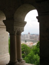 Hungarian Parliament Building and River Danube from Buda Castle