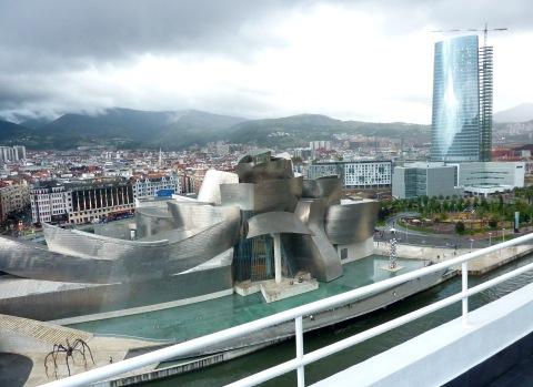Guggenheim Museum & view over city