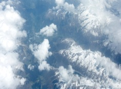 Flight to Bologna with beautiful views over the Swiss Alps