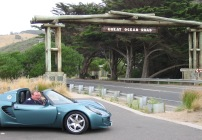 Great Ocean Road adventure - doing it in style in a Lotus Elise! (sensible second car hidden out of view!)