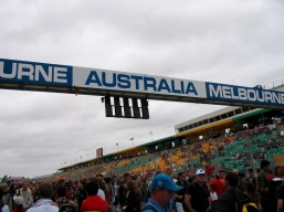 Melbourne Grand Prix - too fast to get a picture of an actual car!
