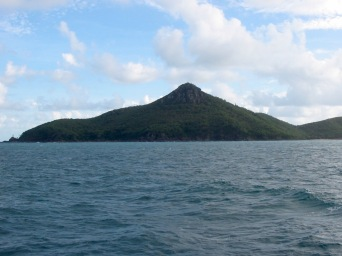 Passage Peak, Hamilton Island (I could swear I can see a face up there in the rock)